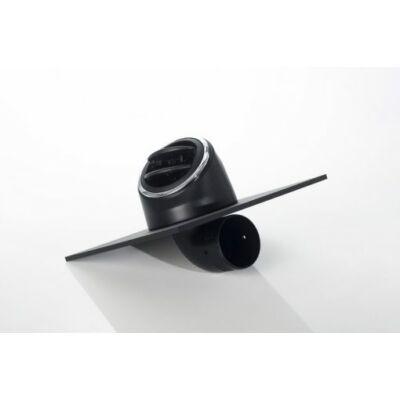 KaloriEmbase Twist Légbefúvó elzárható 75mm-es csatlakozással 90°hajlítású 55mm fekete -chrom